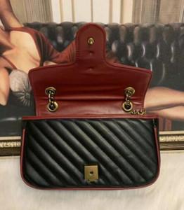 2020 NUEVO G Marmont Bolsas de hombro Mujeres Cadena de oro Bolsos Crossbody Bolsos Nuevo diseñador Monedero Mensaje femenino Bolso 6096