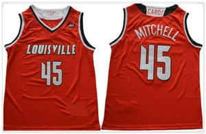 Louisville Cardinals Donovan # 45 Mitchell American College Basketball Uniformes Chemises sport Stitched équipe Maillots Giannis 34 Antetokounmpo