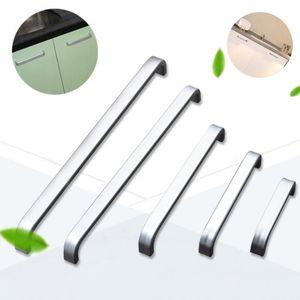 Großhandel- 5 Lengths Solid / Hohlraum Aluminium Griff Küchenmöbel zieht Schrank Griff Schubladengriff 64mm / 96mm / 128mm / 160mm / 192mm