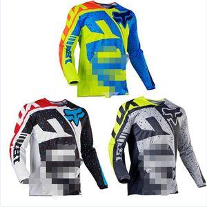 FOX hız düşüşü takım Tld çabuk kuruyan dağ bisikleti Jersey ceket erkek uzun kollu off-road motosiklet giysileri başında