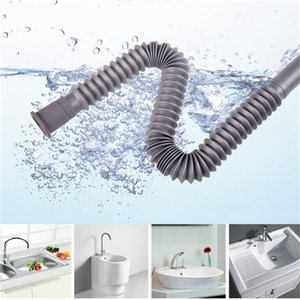 Wash Basin Pipe Plumbing Kitchen Sewer Pipe Flexible Bathroom Sink Drains Downcomer Hose Waste Pipe bluesky1990