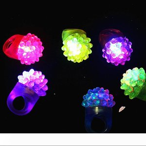 B Flashing Bubble Ring Rave Party Blinking Soft Jelly Glow Hot Selling! Cool Led Light Up W8200