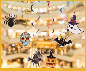 Halloween Decke hängende Strudel Dekoration kreative DIY Papier Cartoon-Bild hängenden Tropfen für Halloween-Party-Dekoration