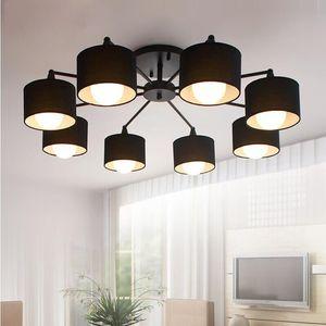 LED tavan Avizeler Modern Mutfak Lambalar ışıkları Yemek Avize Salon E27 Avize Aydınlatma ile Abajurlar