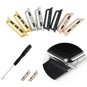 드라이버로 사과 시계 밴드 44mm의 40mm에서 42mm의 38mm 스테인레스 스틸 금속 어댑터 커넥터를보고