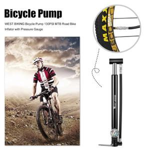 Basınç Ölçer Bisiklet Air ile Mini Bike Pompa Bisiklet Tubeless Bisiklet Pompası 130PSI MTB Yol Bisikleti Lastik Şişirme