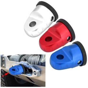 1 pz Supporto per gancio di collegamento collegamento argano auto in alluminio auto con protezione in gomma perno in titanio per linea di argano ATV UTV