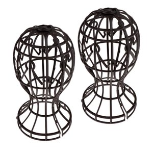 2pcs Collapsible Plastic Wig Hair Extensions Hat Display Holder Stand Organizer