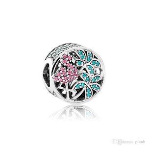 Authentique 925 Charms Sterling SilverJungle Flamingo boîte originale pour Charms Pandora Perles européenne pour les accessoires de fabrication de bijoux
