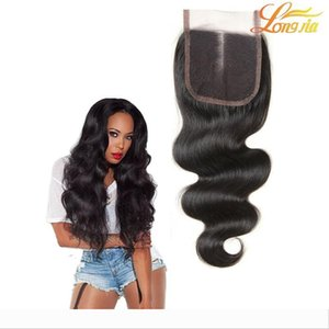 4x4 Lace Closures 100% Unprocessed Brazilian Body Wave Human Hair Best Lace Closure Free Part Middle Part Three part 8A Top Quality