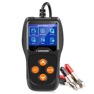 Winsun KW600 автомобилей Тестер аккумулятора 12V 100 Для 2000CCA 12 вольт батареи Инструменты для автомобиля Быстрый сгибая зарядки Diagnostic