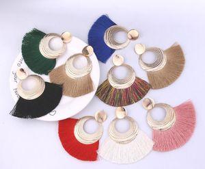 태슬 귀걸이 보헤미안 진술 럭셔리 기장 귀걸이 여성을위한 수제 선물 기하학적 프린지 패션 드롭 크리스마스 큰 별