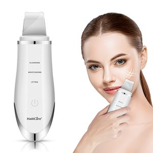 Ultrasonic Facial Cleanser Pore Cleaner Device Extractor Electric Face Scrubbers Spatula Skin Exfoliator Spa Vibration Massager