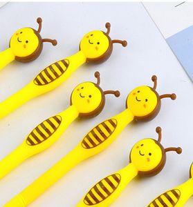 Le penne gel più vendute Creative Stationery Student Lovely Cartoon Bee Full Needle Tube Neutral Pen Black Pen per bambini Gift403