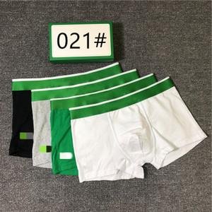 2020 Nouveau Caleçon Homme Designer Luxe Homme Sous-Mode Hauts Marque Qualité Underpants pour Hommes 5 couleurs Taille M-2XL 3 paires One Box