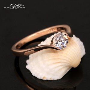 Austrian Cubic ia Engagement / Hochzeit Finger-Ringe für Frauen Rose Gold Farbe Marke für Frauen DWR239