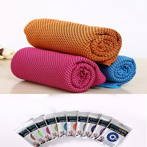 Ice Cold Towel Cooling Summer Sunstroke Sports Exercise Cool Quick Dry Soft Breathable 88*33cm Cooling Towel 200pcs