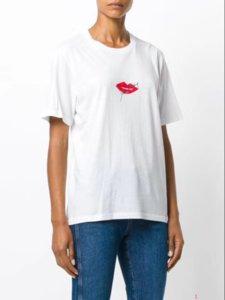 Des femmes des hommes T-shirt Designer 2020 Nouvelle lèvres rouge posters personnalité à manches courtes T-shirt décontracté d'été shirt couleur unie pour couple ltt9060901
