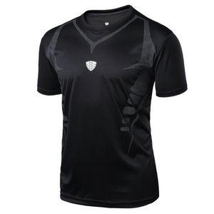 Sport Camicie esterna degli uomini correnti di sport fitness Mattina Run Tennis traspirante Badminton maschile T-shirt Walking Jogging supera i T