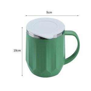 INS Coffe Кружки из нержавеющей стали двойной слой молока Чашки Портативный Кубок кемпинга с крышкой домашнего обихода любителей кофе Кружки 400мл CCA12165 48pcs