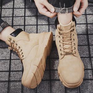 Moda Erkekler İlkbahar Ayak bileği Boots Hip-pop Güz Ayakkabı Boş Yüksek Cut Casual Ayakkabı Açık Sonbahar Martin Çizme