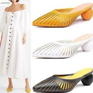 2019 Sommerfrauen schneidet pumpt reizvolle Laubsägearbeiten Schuhe wedding Punkt Zehepumpen Kugelferse Parteischuhe an Pumpen rutschen