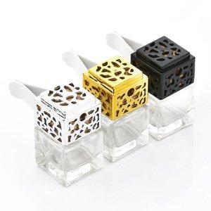 Perfume Car Garrafa Cube Frasco de perfume vazio Vents Clipe Auto Air Freshener Air Conditioner saída Fragrance Cheiro Difusor 8ML GGA1455