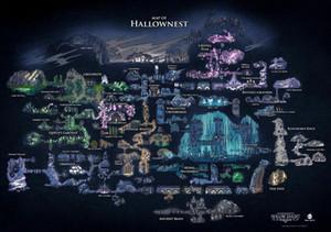 Hollow Knight Map Of Hallownest Art Wall Decor Silk Print Poster