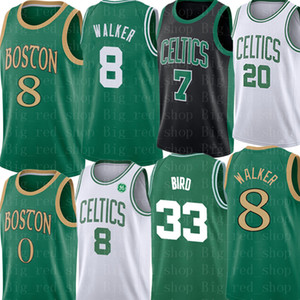 Kemba Walker 8 Jersey NCAA crianças Mens Jaylen 7 Brown Larry 33 Pássaro Jersey Gordon Hayward 20 Marcus 36 inteligente Basketball Jerseys