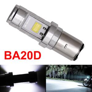 1x H6 BA20D Led Phare Lumière BA20D Moto Led Phare Haute Basse Faisceau BA20D COB Moto Phare Brouillard Ampoule 5.0