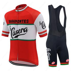 저지 키트 짧은 소매 도로 경쟁 자전거 의류 산악 자전거 저지 타이츠 ciclismo 아저씨를 순환 레트로 라 Casera 팀 남자