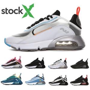 Aire Stockx más nuevas 2090 mujeres de los hombres zapatos para correr el triple criado negro blanco rosado oreo década de 2090 Aire libre mens entrenadores deportivos de diseño zapatillas de deporte 36-45