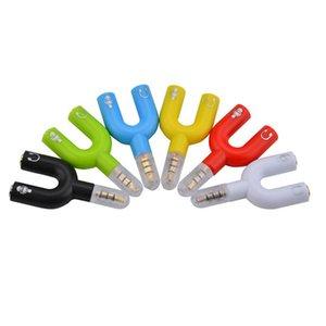 3.5mm Ses Jakı Tak 1 2 Kulaklık Mikrofon Y Splitter Kablo Kordon Adaptör Tak MP3 Telefonları için