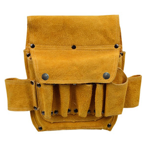 Tool Leather Pouch Bag Decoration Hardware Woodworking Electric Cowhide Waist Bag Thickened Wear Resistant Tool Home Electrical Taidv