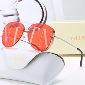 2020 sem moldura sobredimensionada óculos de sol mulheres designer de luxo retro vintage frame quadrado uma peça sem aro vidros de sol tons Óculos de sol
