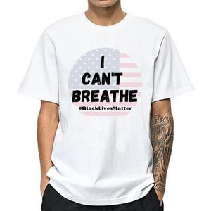 I Cant Breathe Männer Shirts Protest-T-Shirts Schwarz Lives Matter beiläufiges Sommer-T-Shirt Baumwolle Kurzarm Größe S-4XL