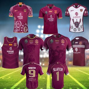 2019 National Rugby League Queensland 19 20 all black QLD Maroons Malou Rugby jersey QLD MAROONS STATE OF ORIGIN Rugby jersey