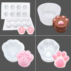 Lovely Paw Shape Mousse Mould Cake Mold ice cream Mold Silicone Jelly Mold Household DIY Baking Tool