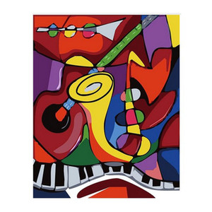 Numaralarına göre yağlıboya Keman / Piyano 50 * 40 CM / 20 * 16 Inç Ev Dekorasyon Kitleri Için Tuval Üzerine [Çerçevesiz]