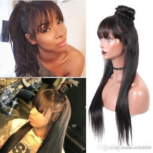 Dentelle fermeture perruque droite avant de dentelle perruques de cheveux humains pour les femmes noires Preplucked dentelle brésilienne Remy cheveux 4x4 Fermeture perruque