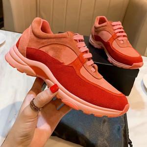 2019 Дизайнерская обувь женская обувь замша кожа повседневная спортивная обувь случайные универсальные кроссовки размер 35-41 с коробкой R45
