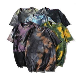 Été O cou Hauts pour hommes Designer Tie Dyed T-shirts à manches courtes en vrac mode Casual T-shirts pour hommes