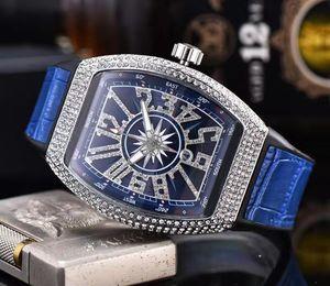 Großhandel Mode Mens-Luxuxuhr-Shinning Diamant Iced Out Uhren Brand New Yacht Designer-Quarz-Bewegung-Partei-Kleid-Armbanduhr