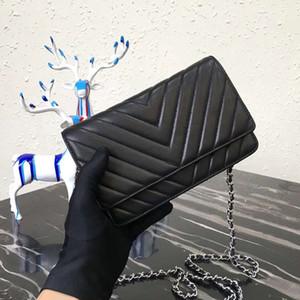 Bolsos de lujo bolso de diseño mujer de alta calidad cordero de piel de cordero cordón cuero genuino bolso de la marca de cuero pequeño cadena caviar bolso de hombro woc