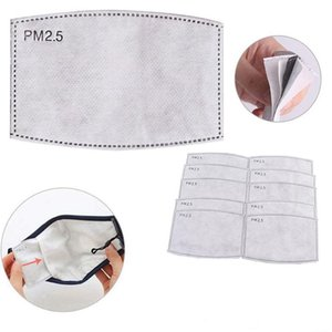 Değiştirilebilir Filtre dilimli 5Layers Dokumasız PM2.5 Filtre Pad Yüz Aktif Maske Karbon Filtre Yüz Conta Ücretsiz Kargo Maske