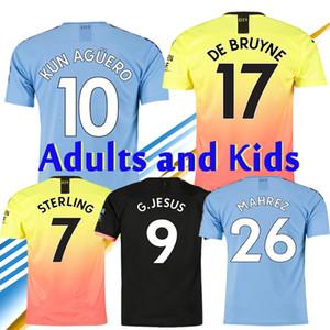 2020 مدينة KUN AGUERO SANE JESUS DE BRUYNE كرة القدم البلوزات MAHREZ RODRIGO STERLING 19 20 كرة القدم KIT man shirt
