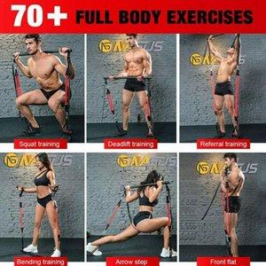 1Pcs Портативный Пилатес Bar Kit с Resistance Группа Пилатес тренировки упражнения для фитнеса Тонизирующий Йога Body Bar Стик Adjustab Q1H2