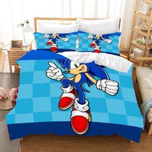 Sonic The Hedgehog аниме 3d Пододеяльник Пододеяльники Наволочки Super Mario Bros Утешитель Постельные принадлежности Комплекты постельного белья Комплект постельного белья CJ191203