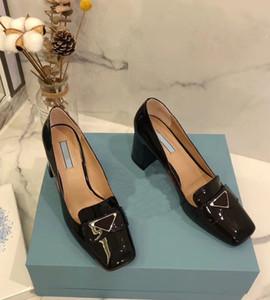 Große Mode Luxus-Designer Höhe 7.0cm nackt große alleinige hohe Absätze mit schwarzem Silberhoch grundiert Schuhe Frauen quadratischen Kopf High Heels