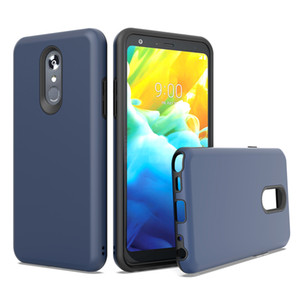 For FOXXD MRIO L590 LG STYLO 5 K40 ARISTO 3 2 In 1 Design Protector Hard PC Soft TPU Shockproof Scratch Resistant Glossy Phone Case Cover